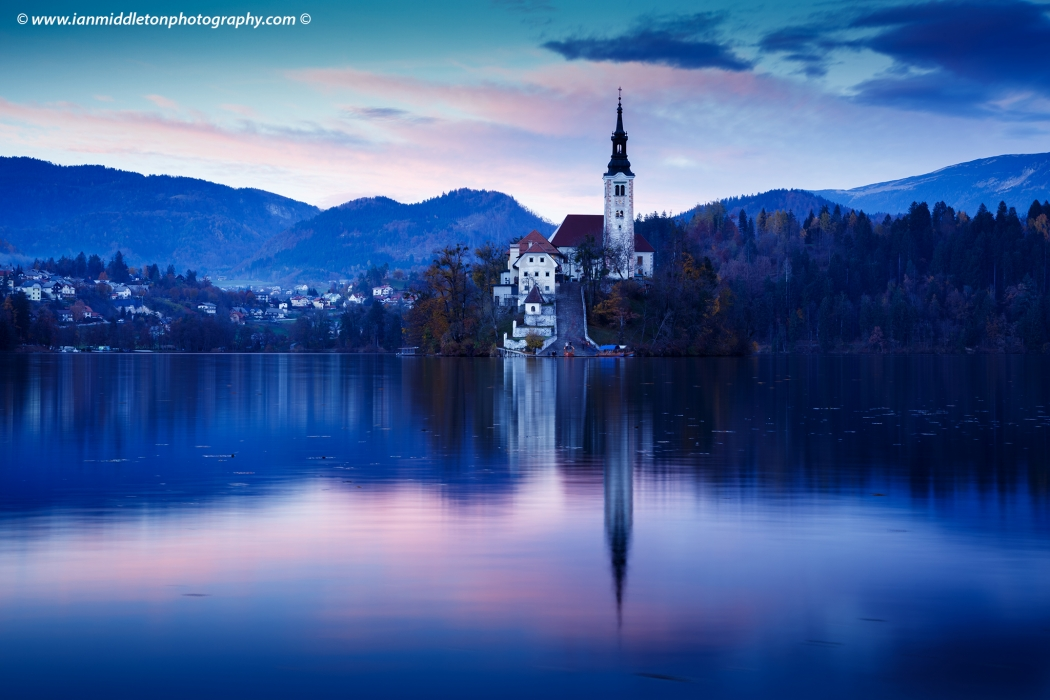 Lake Bled's island church, Slovenia.
