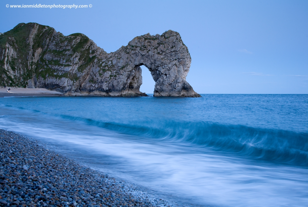 Durdle Door beach, Dorset, England. Durdle door is one of the many stunning locations to visit on the Jurassic coast in southern England.